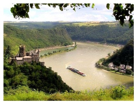 Rhine River (On a boat cruise): Favorite Places, Castles Katz, Castles Rhine, Katz Castles, Magic Spaces, Boats Crui, Rivers T-Shirt, Germany Castles, Rhine Rivers