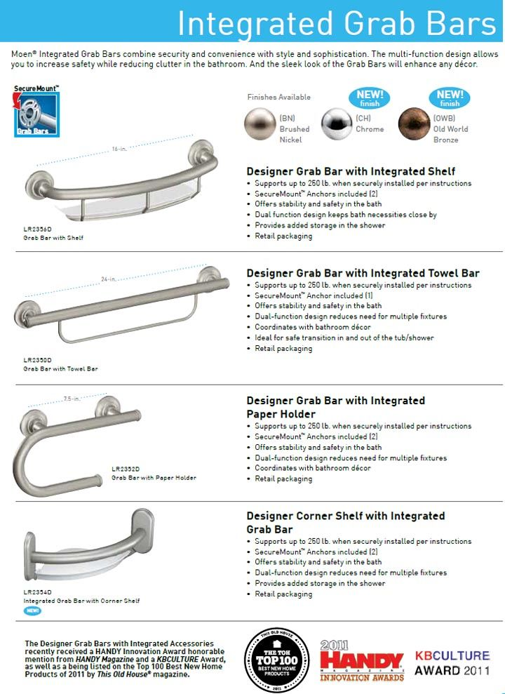 Best Final Bathroom Products Images On Pinterest Brushed - Brushed nickel grab bars for bathrooms for bathroom decor ideas