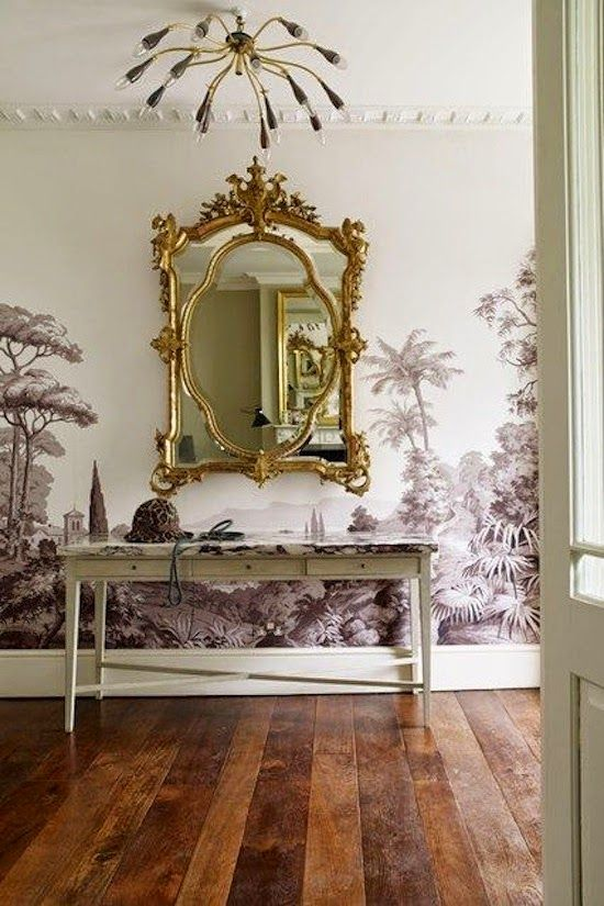 17 best images about british colonial wallcoverings on for Colonial mural wallpaper