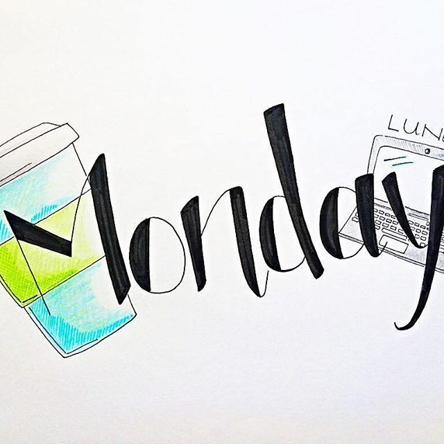Happy Monday -  Lunedì #handletteredabcs @handletteredabcs  #abcs_monday #monday #leuchtturm1917  #bulletjournal #bujo #handlettering  #moderncalligraphy #lettering #letters #typography #calligraphy #calligraphyph #calligraphyart  #type #typewriter #planner #planneraddict #coffee #handtype #typespire #graphic #bulletjournaling #thedailytype #doodle #bulletjournaljunkies #journal #paper