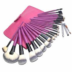 24 Pcs Purple Professional Artificial Fibre Brush Set #omgnb #brush