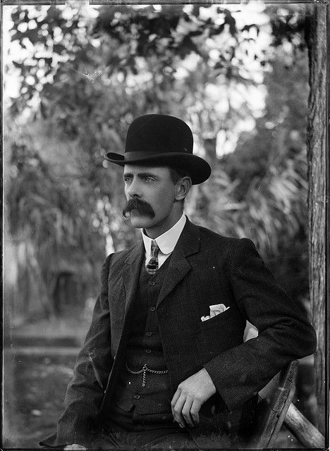 Portrait of a man in a bowler hat by Powerhouse Museum Collection, via Flickr