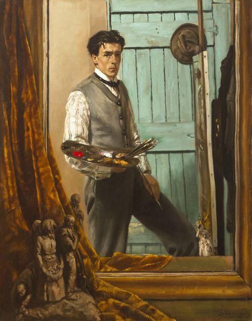 17 best images about paintings of men on pinterest oil for Autoportrait miroir