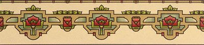 Bradbury Arts & Crafts Style Design | Water Lily Wallpaper Border in Thatchhttp://www.bradbury.com/