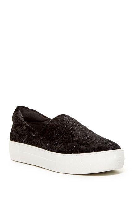 J Slides Angelica Crushed Velvet Slip-On Sneaker  ae513978d8