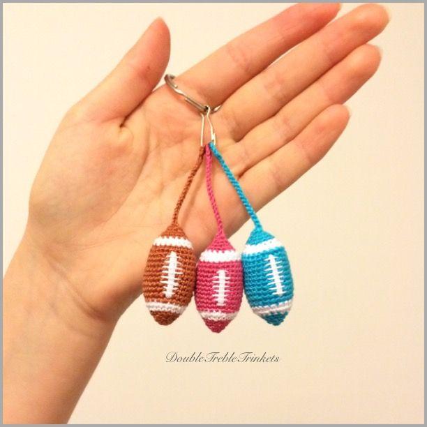 Football key chain crochet