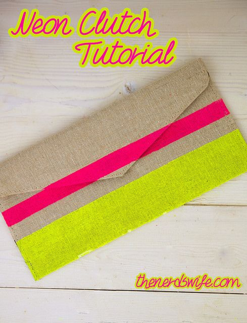 DIY Neon Clutch to hold your on-the-go summer essentials! #FreshNaturally #Shop