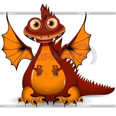 Красный дракон | Векторный клипарт | ID 3144707
