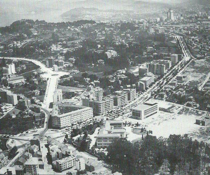 Años 60 ya con la Avda. de las Camelias y los primeros edificios construidos.