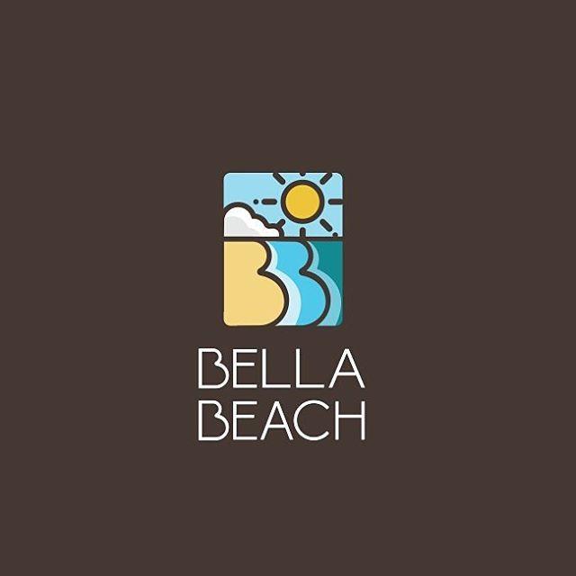 Bella Beach #beach #sun #happy #sea #waves #logos #logoplace #iconaday #logoinspirations #illustrations #branding #identity #follow #logotype #instacool #art #summer #vector #artwork #style