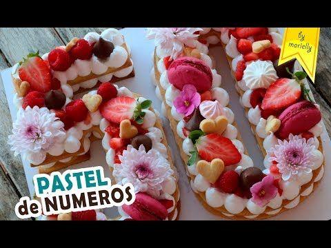 Tarta de NUMEROS y LETRAS Tendencia 2018 by Marielly - YouTube