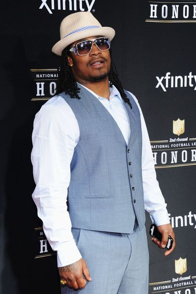 - Marshawn Lynch ~ 2nd Annual NFL Honors - #Seattle #Seahawks #Beastmode #Marshawnlynch #football #NFL #honors #sports http://www.pinterest.com/TheHitman14/sports-seattle/