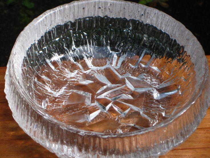 """Schale IITTALA """" Lunaria """" TAPIO WIRKKALA Glas Design aus Finnland"""