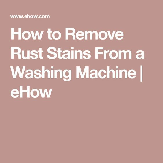 washing machine rust stains
