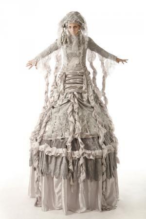 Stiltwalker - a Miss Faversham style stiltwalker