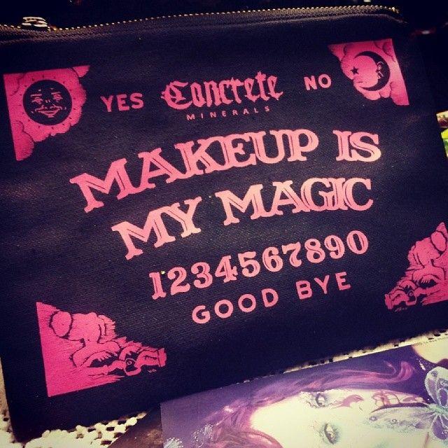 Pink Ouija Board inspired makeup bag | queerpunkpastelgoth