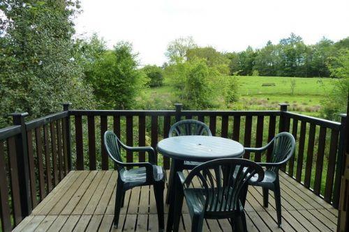 Wythburn, Burnside Park, decked terrace, Lakes Cottage Holidays