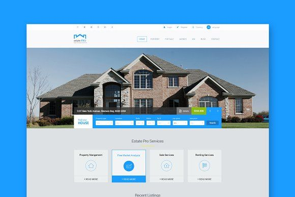 Estate Pro - Real Estate HTML by ThemeShop on @creativemarket