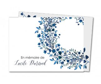Couronne de fleurs bleutée