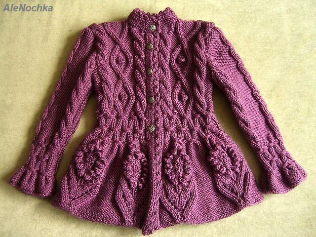 2Мои работы девочкам: кофты, свитера, туники, платья, комплекты жакет Маленькая Леди