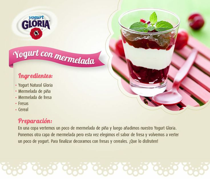 receta de yogurt