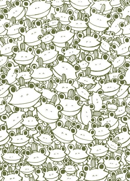 Beaucoup, beaucoup, beaucoup de grenouilles à colorier. A vos crayons !