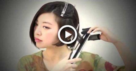 SHORT WAVY HAIR TUTORIAL WITH STRAIGHTENER CUTE ASIAN HAIRSTYLES FOR SHORT HAIR – #Asian #Cute #Hair #Hairstyles #Short