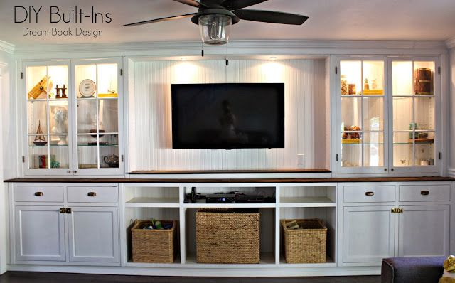 DIY Built-Ins . Using vintage cabinets and DIY new cabinets to complete the look- Dream Book Design
