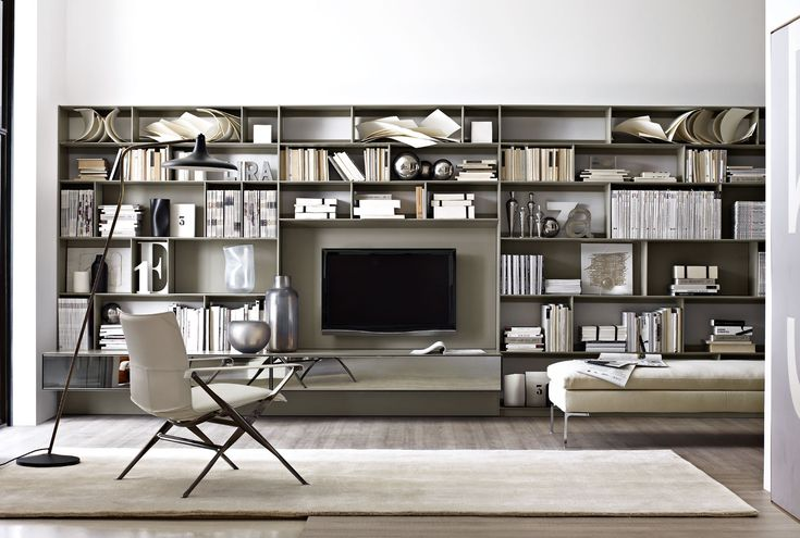 Sistema-Libreria: FLAT.C - Collezione: B&B Italia - Design: Antonio Citterio