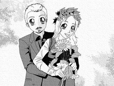 Ritratto stile Manga di coppia e in bianco e nero by Crearti.eu