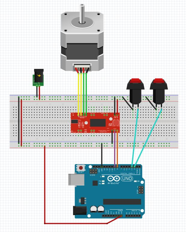 Arduino stepper motor serial control relay dedalwebcam for Controlling a stepper motor