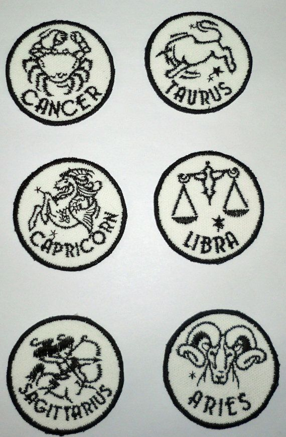 Iron-On Patch ASTROLOGICAL SIGNS by NancysPatches on Etsy