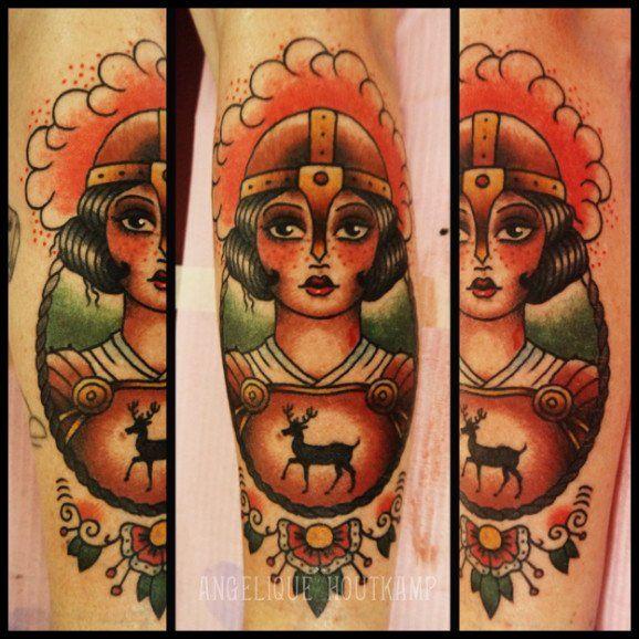 Joan of Arc Tattoo by Angelique Houtkamp
