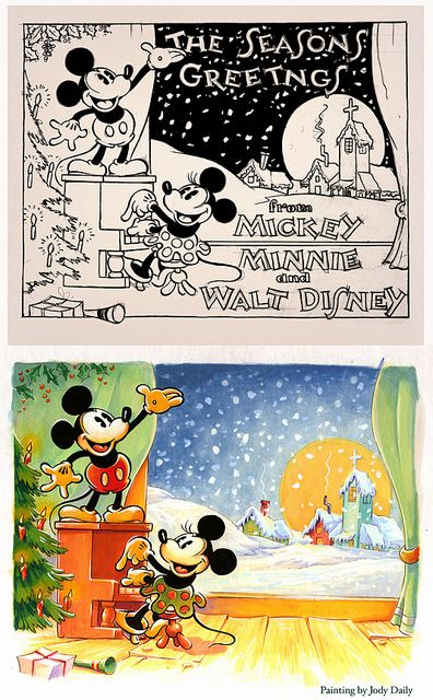 1930s Christmas Card by Jody Daily