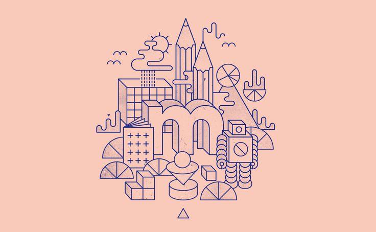 Line illustration   Inspiratie   Kleurencombinatie