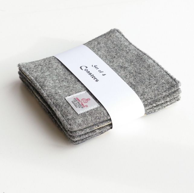 Grey quilted coasters £20.00