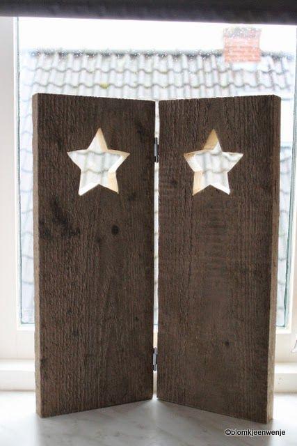 Blomkje en Wenje: for the window wood with stars