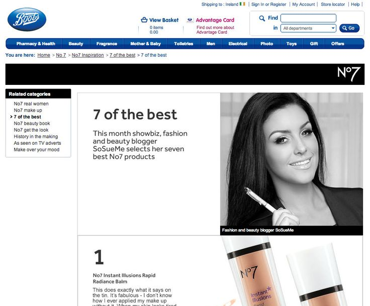 This month I reviewed x7 of my favourite No7 products for boots.ie and it went down a treat. If you missed it, you can read it in full here! You guys loved the products so much, that myself and Boots Ireland have decided to give away the SEVEN products I chose to one lucky SoSueMe.ie …