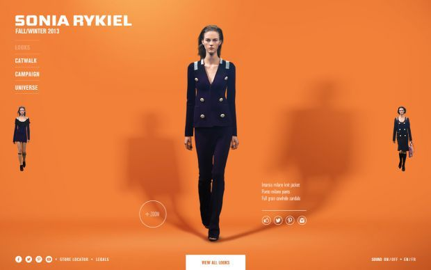 Discover the Sonia Rykiel looks of the new Fall Winter 2013 collection - Best Webdesign inspiration on www.niceoneilike.com