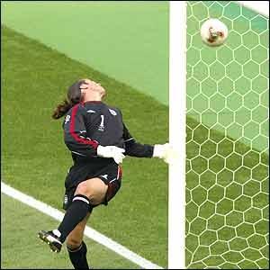David Seaman's blunder from Ronaldinho's shot. England V Brazil. World Cup Korea-Japan 2002