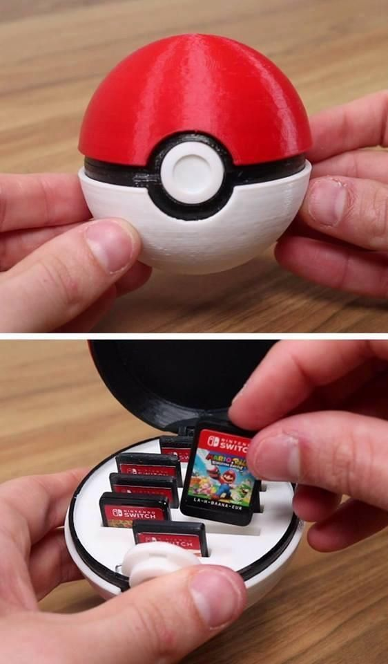 This pokeball is supposed to contain games for a Nintendo – #this #included # for #Nintendo