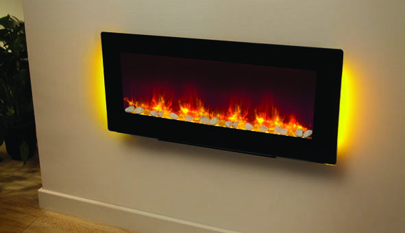 Be Modern has introduced the stunning Amari LED electric fire into their electric fire collection. The Amari electric fire can either fitted as hang on the wall electric fire or as completely freestanding electric fire as it comes with a stand as standard