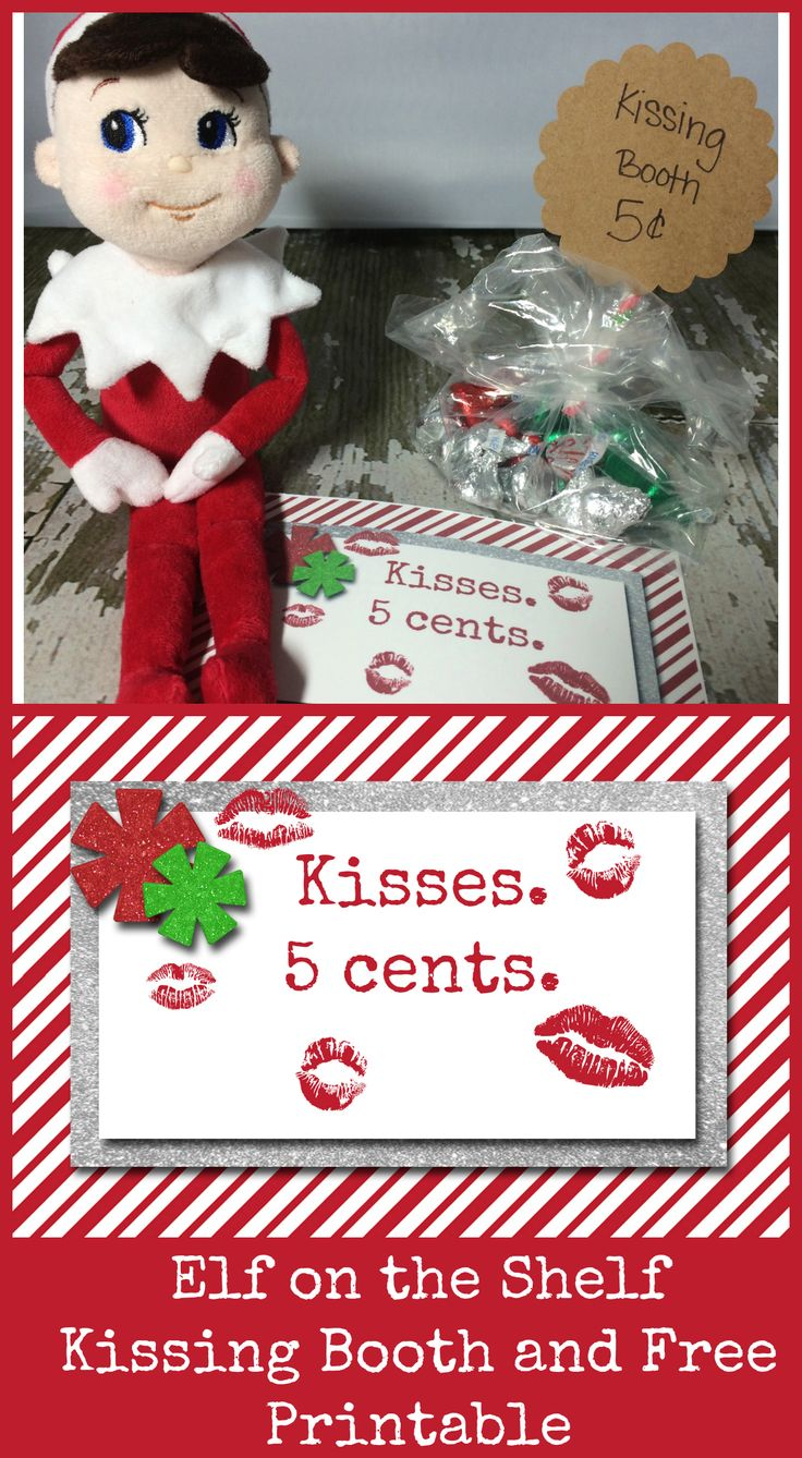 Playful image throughout elf on the shelf kissing booth free printable