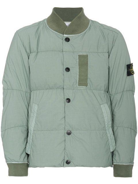 Stone Island Mussola Gommata bomber jacket