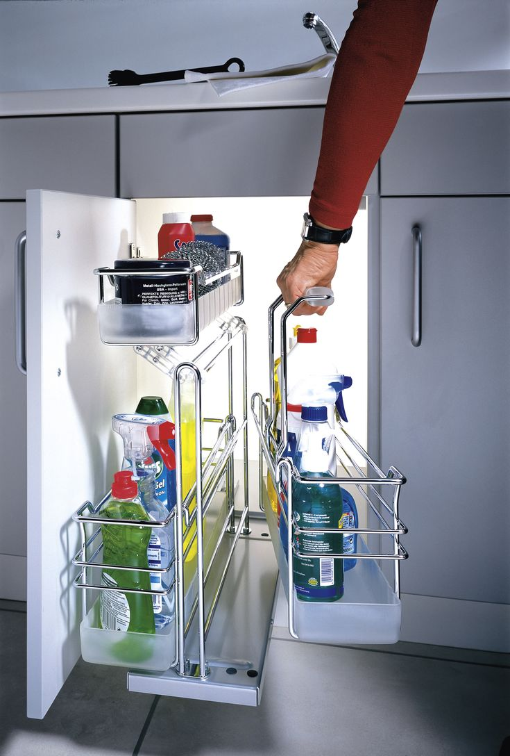 The Portero is a great way to organize cleaning supplies under your sink You can also pick it