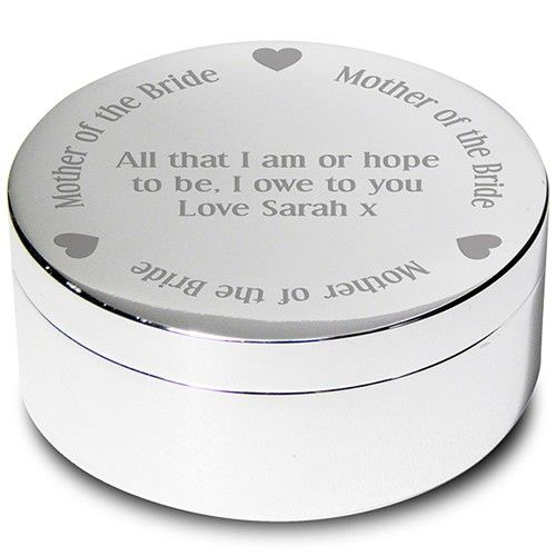 Personalised Mother of the Bride Round Trinket Box  from Personalised Gifts Shop - ONLY £14.99