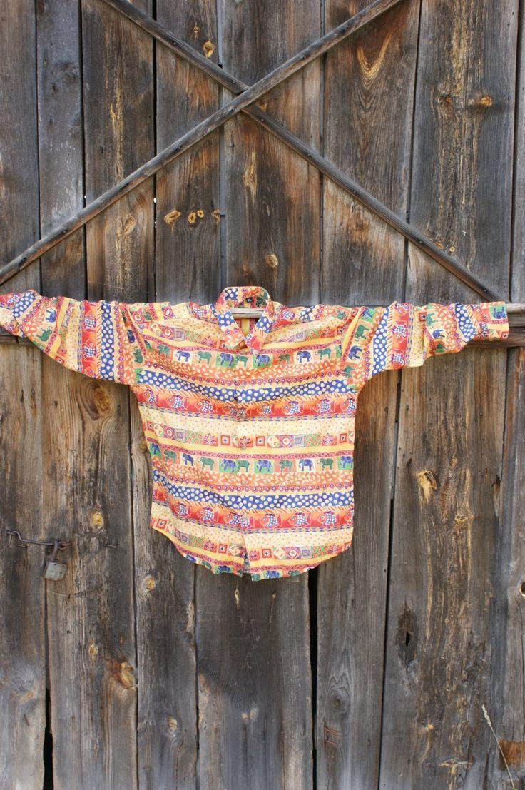 vintage męska egzotyczna koszula wzory od Kingdom of Vintage
