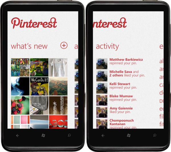 #WindowsPhone7  #pinterest
