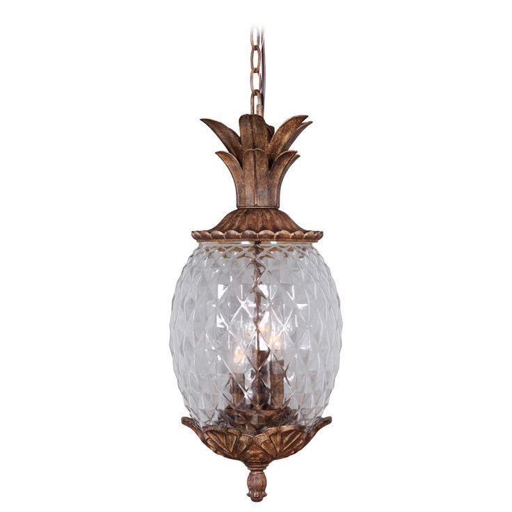 Mariana Home Pineapple 3 Light Outdoor Hanging LPendant