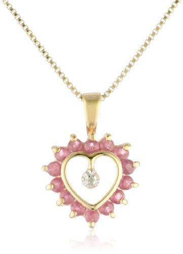 18k Yellow Gold Plated #Sterling #Silver #Ruby and #Diamond Accent #Heart #Pendant #Necklace http://www.jewelry-warehouse.net/70-off/18k-yellow-gold-plated-sterling-silver-ruby-and-diamond-accent-heart-pendant-necklace-16 $39.00